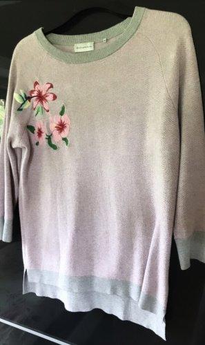 Baumwolle-/Cashmere Pullover mit Stickerei