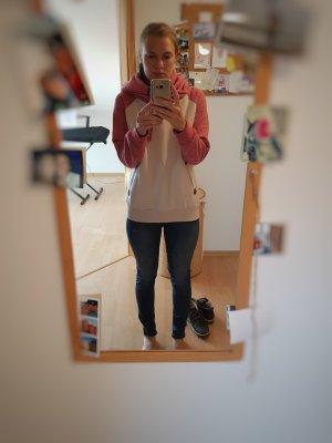 Sublevel Sweter z kapturem jasnobeżowy-różowy
