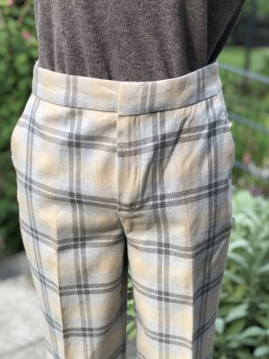 Massimo Dutti Jersey Pants light grey-camel