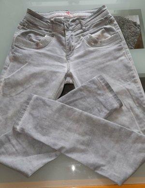 Buena Vista Pantalone a sigaretta blu pallido-grigio ardesia Cotone