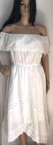Baumwolle Kleid / Weiß
