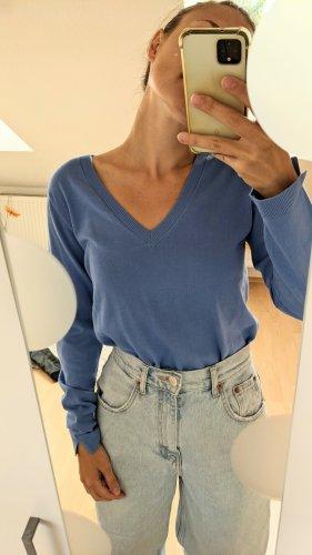 Massimo Dutti V-Neck Sweater neon blue