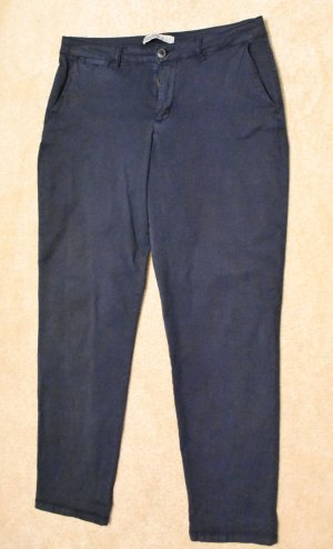 Zara Basic Stretch Trousers blue cotton