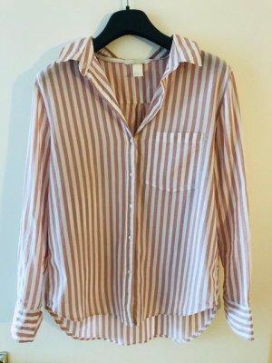 Baumwollhemd in weiß-rosa, Gr. 36 -38