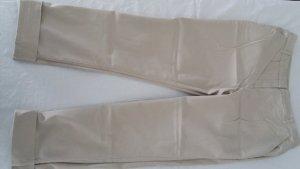 Yessica Pantalon chinos brun sable coton