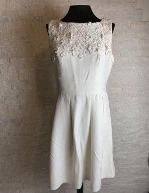 keine Sukienka typu babydoll w kolorze białej wełny