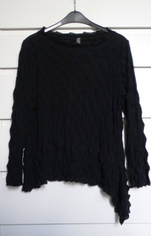 A-Z Jersey de lana negro Algodón