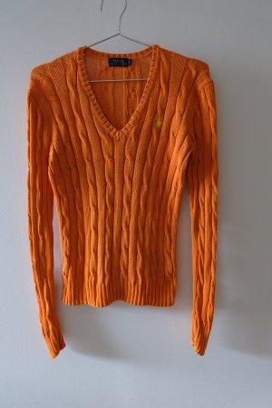 Polo Ralph Lauren Cable Sweater orange cotton
