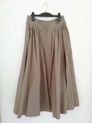 Folkloristische rok grijs-bruin