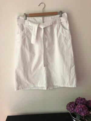 Baumwollrock, leichte A-Form (&leichter Cargo-Style) - weiß