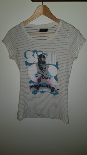 Only T-shirt biały-jasnoszary