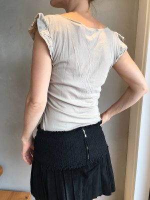 Baumwollshirt mit Rüschenärmel