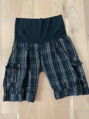 Shorts nero-marrone chiaro