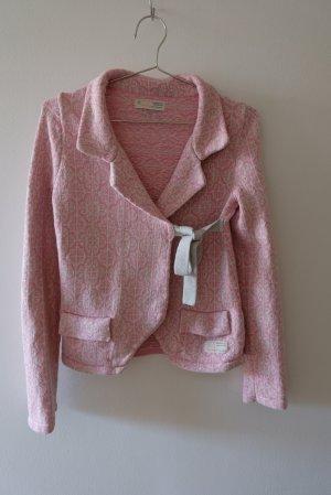 Odd Molly Cache-cœur en tricot blanc-rose coton