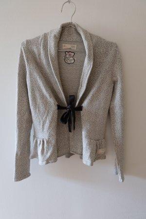 Odd Molly Cache-cœur en tricot blanc-gris coton