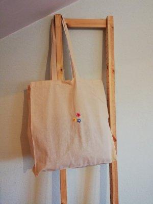 Baumwolltasche/Shoppingbag bestickt Blumen Vinatge