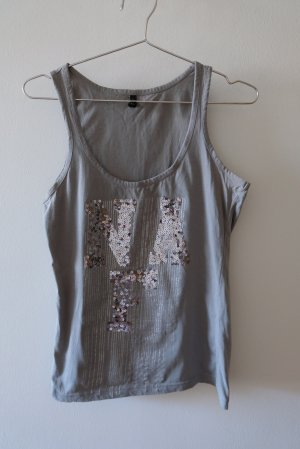 Naf naf Canotta argento-grigio Cotone