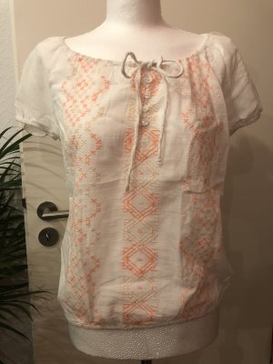 Clockhouse Shirt Tunic white-salmon