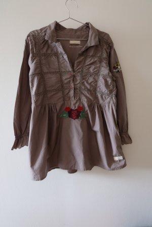 Odd Molly Blusa a tunica grigio scuro Cotone