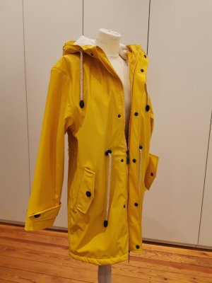 Bayside Manteau de pluie jaune-orange doré coton