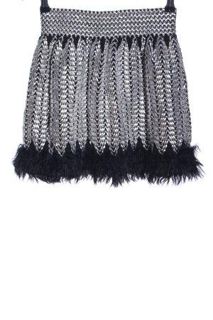 bb&co Minirock silberfarben-schwarz Elegant