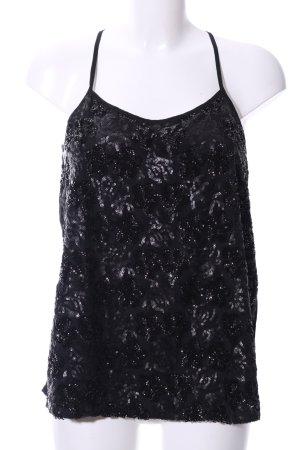 Bb Dakota Haut à fines bretelles noir style mouillé