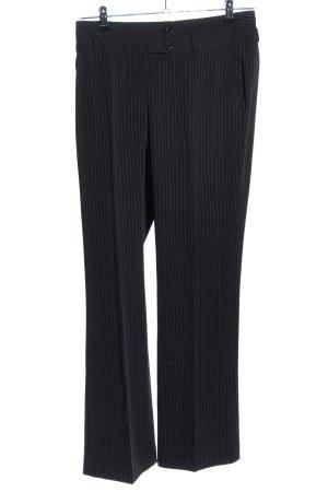 BC Anzughose schwarz Streifenmuster Business-Look