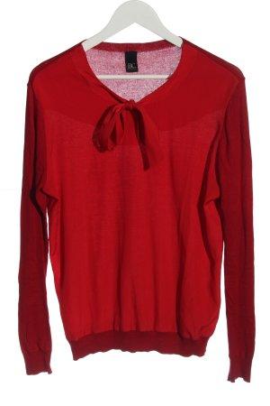 BC Best Connetions Cienki sweter z dzianiny czerwony Warkoczowy wzór