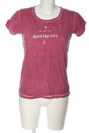 BC Collection Koszulka z nadrukiem różowy-biały Melanżowy W stylu casual
