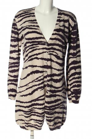 BC Collection Knitted Coat cream-black animal pattern casual look