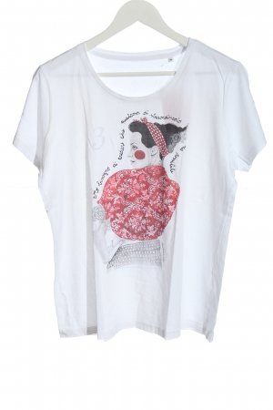 BC Collection T-shirt bianco Stampa a tema stile casual
