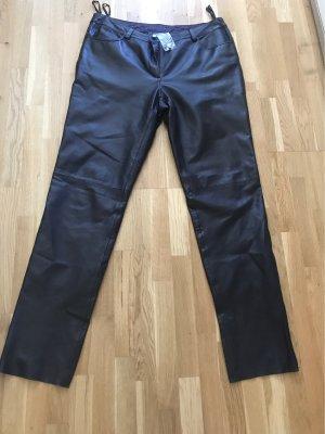 Best Connections Pantalón de cuero negro Cuero