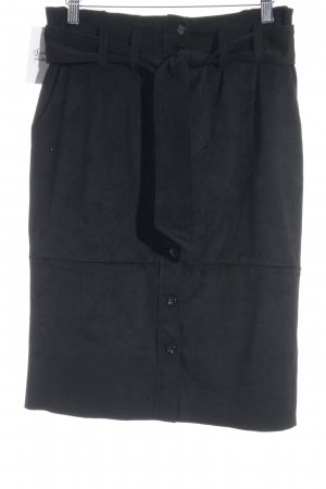 BC Faux Leather Skirt black simple style