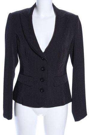 BC Short Blazer black striped pattern business style