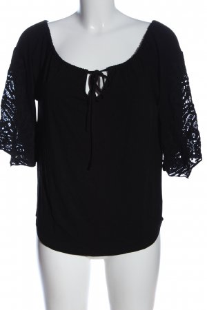 BC Short Sleeved Blouse black casual look