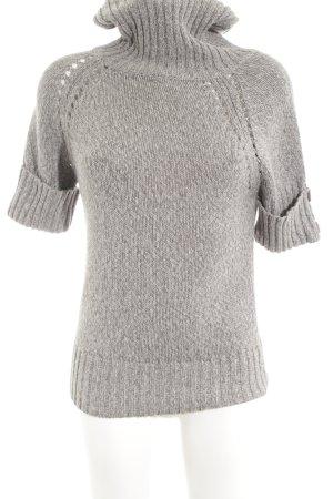 BC Short Sleeve Sweater light grey casual look