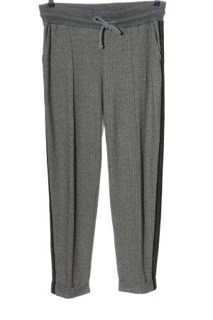 BC Pantalon en jersey gris clair-noir moucheté style décontracté