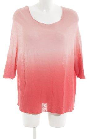 BC Pull tricoté rose-rouge gradient de couleur style décontracté