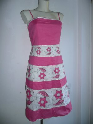 BCBG Pinafore dress multicolored cotton