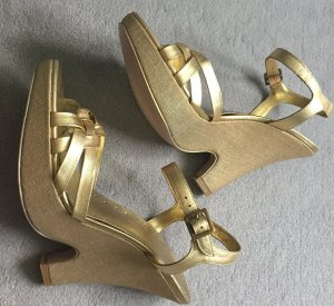 BCBG Plateauzool Sandalen met Hoge Hakken goud Leer