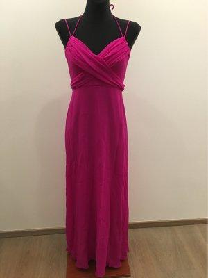 BCBG Maxazria Evening Dress raspberry-red polyester