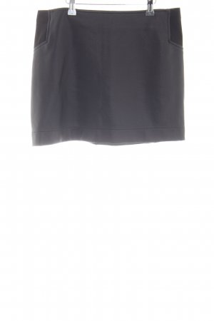 BCBG Leather Skirt light grey casual look