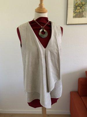 BCBG Maxazria V-hals shirt nude