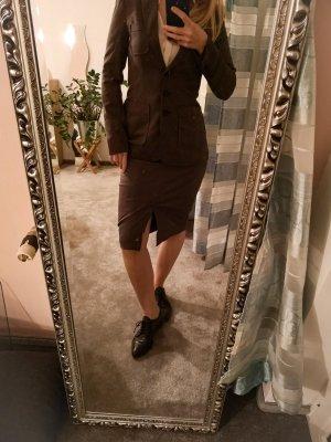 BCBG Maxazria Garnitur biznesowy szaro-brązowy