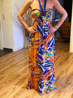 BCBG Maxazria Sukienka z dekoltem typu halter Wielokolorowy