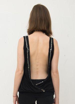 BCBG Maxazria Shirt zwart-zilver