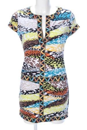BCBG Maxazria A-Linien Kleid abstraktes Muster Casual-Look