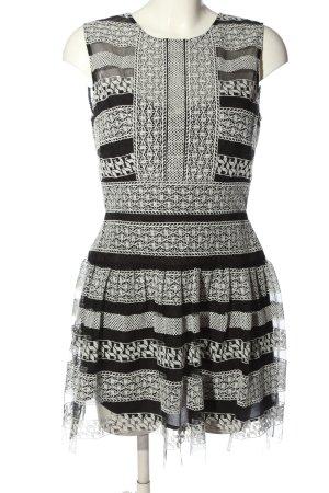 BCBG Maxazria A-Linien Kleid schwarz-weiß Elegant