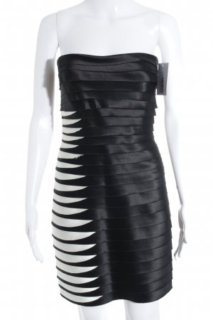 BCBG Maxazria Abendkleid schwarz-weiß Elegant