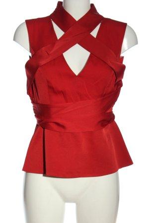 BCBG Maxazria ärmellose Bluse rot Casual-Look